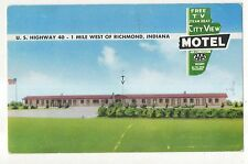 City View Motel, Motor Lodge, RICHMOND IN Vintage Indiana Postcard