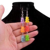 New Funny Colorful Cartoon Three Bear Animal Dangle Drop Earrings Jewelry Gif MD