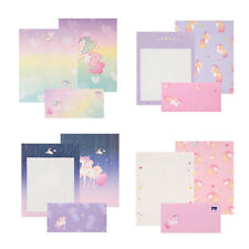 1x Beautiful Unicorn Letter Set 4sh Lined Writing Stationery Paper 2sh Envelope