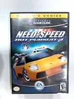 Need For Speed Hot Pursuit 2 - Nintendo GameCube Game w/ Case! Tested Working!