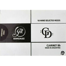 Gonzalez Bb Clarinet 'GD' Reeds Strength 4.25, Box of 10