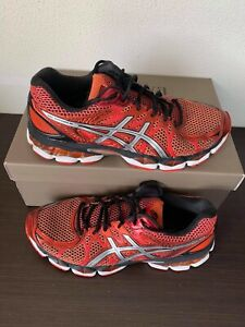 RARE Asics Gel Nimbus 16 Men Orange Red Black Running Training Shoes T435N US 9