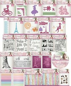 CRAFTERS COMPANION PARISIAN SIGNATURE COLLECTION EMBOSSING FOLDER DIE STAMP CARD