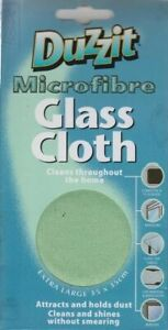Duzzit Microfibre Glass Cleaning Cloth Car/Window/Tables/Mirror/TV Screens UK