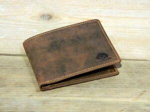 RFID Herren Portemonnaie flache Leder Geldbörse Greenburry Vintage 1705A-RFID-25