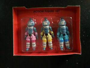 Alien ReAction Nostromo Crew 3 pack Figures Super BLUE No Box NEW