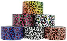 "NEW ASSORTMENT LEOPARD PRINT MULTI PURPOSE DECORATION DUCT TAPE ROLL 1.88""X5yrd"