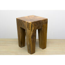 Reclaimed teak root coffee table Stool Wax finished table sustainable