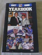 Original NHL New York Rangers 1987-88 Official Hockey Media Guide