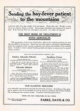 1911 Original Antique Parke Davis Adrenalin Hayfever Drug Medicine Print Ad