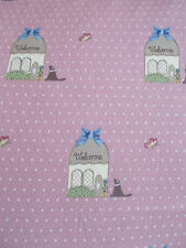 GUTERMANN Country Chic Cottage tessuto-Cane, Rosa scuro, casa, shabby chic, DOT