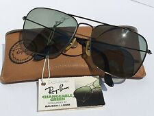 Vintage Ray-Ban Caravan B&L USA frame Black green Changeable 58mm set Rare