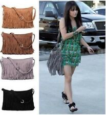 Women Handbag Celebrity Tassel Suede Fringe Shoulder Messenger Bag
