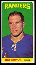 1964 65 TALL BOY TOPPS HOCKEY #36 JIM MIKOL NM NEW YORK N Y RANGERS CARD