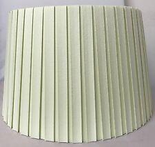 """Cream Box Pleat Empire Drum Table Lamp Shade 10"""" or 11"""" Diameter"""