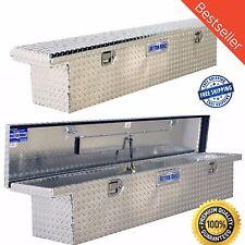 Truck Bed Aluminum Tool Storage Full Size Slimline Box Low Profile Car Toolbox