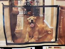 Magic Pet Gate Ingenious Mesh Dog Fence For Indoor and Outdoor Safe Pet Dog