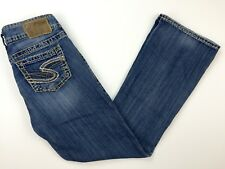 Silver Suki Bootcut Jeans Womens Size W26 L30 (26 x 29) Denim Medium Blue Wash