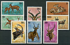 Rwanda 1975 MNH Antelopes 8v Set Kudu Eland Wild Animals Stamps