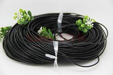 3M 2.0mm Black Real Leather Cord Necklace Charms Rope String Fit Jewelry Making