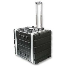 """Stackable ABS 19"""" Rack Flight Case with Pull Handle"""
