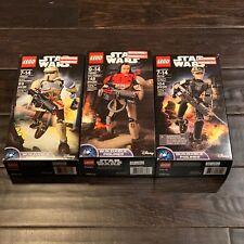 LEGO Star Wars 75119 Jyn Erso, 75523 Scarif, 75525 Baze Malbus Buildable Figures