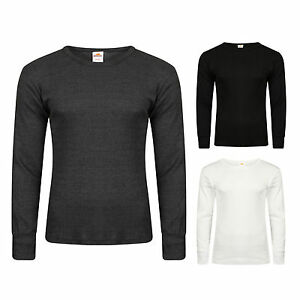 Long Sleeve Mens Winter Thermals in Black, White and Charcoal