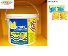 MULTIFUNZIONE TRIPLEX CLORO ALGHICIDA FLOCCULANTE PER PISCINE 5 KG OFFERTA