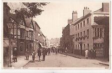 Shropshire postcard OSWESTRY, CHURCH STREET 1927 by Photochrom