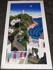 Thomas McKnight Nantucket Lighthouse Limited #76/200 Signed Serigraph