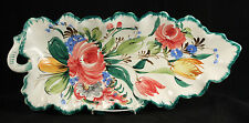 Vintage Italian Ceramic Serving Dish/Platter Italy Hand Painted Scalloped Large