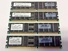 MT18VDDT6472G-202C3 512MB 184pin PC1600 ECC DDR DIMM SAMSUNG M312L6420ETS 512MB
