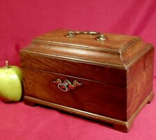 ANTIQUE c1790 GEORGIAN TEA CADDY MAHOGANY CHIPPENDALE STYLE GEORGE 111 lovely