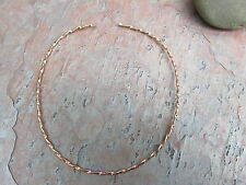 Copper Neck Wire Hard Collar Flat Twist Necklace 2.6 mm Width Open Ends NEW