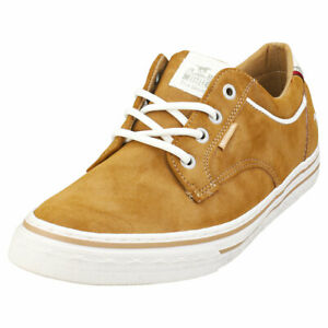 Mustang Lace Up Low Top Mens Cognac Synthetic Casual Trainers