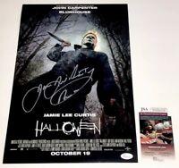 JAMES JUDE COURTNEY Signed 2018 HALLOWEEN 11x17 Photo Autograph JSA COA PROOF