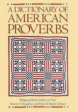 A Dictionary of American Proverbs-ExLibrary