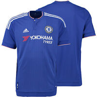 CHELSEA FC ADIDAS HOME JERSEY 2015 2016 FOOTBALL CLUB SOCCER TEAM OFFICIAL MENS
