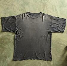 Xxl Black Basic Blank worn Soft Faded vintage T Shirt Thrashed Baggy Boxy 24x29