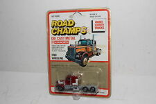 ROAD CHAMPS KENWORTH SEMI TRACTOR, DARK RED, NEW IN BLISTERPACK, LOT A