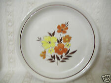 "Mioko Designer Collection Stoneware Earthtone 12"" Round Serving Floral Platter"