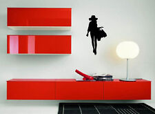 Hot Girl Hat Heel Shopping Fashion Wall Decor Mural Vinyl Decal Art Sticker M188