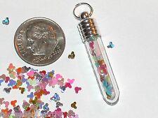 1 Tube Glass bottle of Rainbow Mickey Mouse Fairy Glitter vial*~New