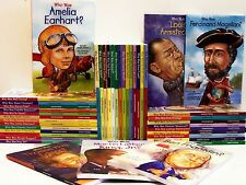 1-75 Book Who Was, Is, Were, What Was Series Accelerated Readers Collection Set!