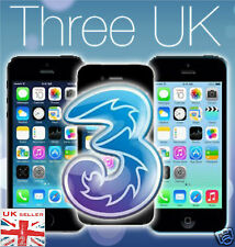 Three 3 UK Network iPhone 6S, 6S Plus, 6, 6 Plus, 5S, 5C, 5, 4S Factory Unlock