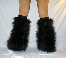GoGo Dancer Fluffy Boot Covers Furry Legwarmers Rave Fluffies Fuzzies Fuzzy