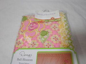 2 pcs Kidsline Dena BALI BLOSSOM Wall Decal Applique & Window Valance Flower New