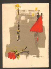 "PARIS II°: CARTE BONNE ANNEE ""HAUTE COIFFURE FRANCAISE & COIFFURE CREATION"" 1964"