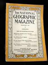 Lot of 6 - 1928 National Geographic Magazines, Vol. LIII, #2 Vol. LIV, #3-#6
