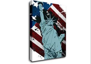 Retro Statue of Liberty New York 18368 Canvas Print Wall Art